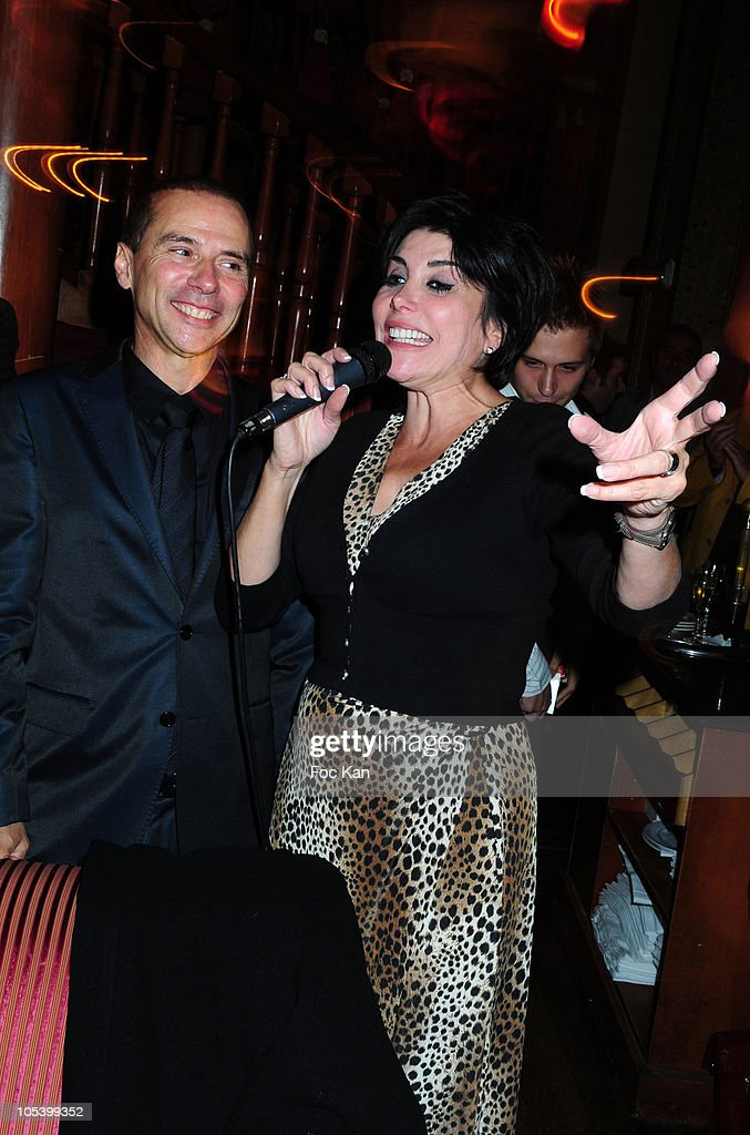 Artistic agent Patrick Goavec and singer <a gi-track='captionPersonalityLinkClicked' href=/galleries/search?phrase=Liane+Foly&family=editorial&specificpeople=961880 ng-click='$event.stopPropagation()'>Liane Foly</a> attend the Patrick Goavec Birthday Party at the Berkeley Club on September 14, 2009 in Paris, France.