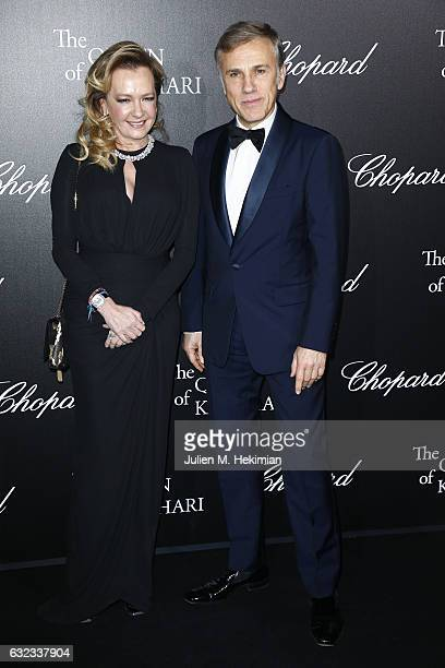Artistic Director and Co President of Chopard Caroline Scheufele and Christoph Waltz attend The Garden of Kalahari Movie Presentation at Theatre du...
