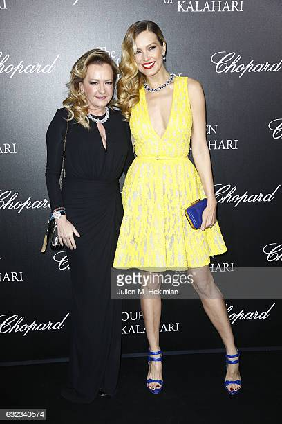 Artistic Director and Co President of Chopard Caroline Scheufele and Petra Nemcova attend The Garden of Kalahari Movie Presentation at Theatre du...