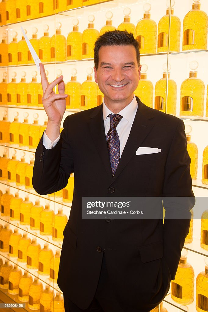 Artistic director and nose of Guerlain Thierry Wasser attends Guerlain Store & Restaurant Opening on Champs Elysees, in Paris.