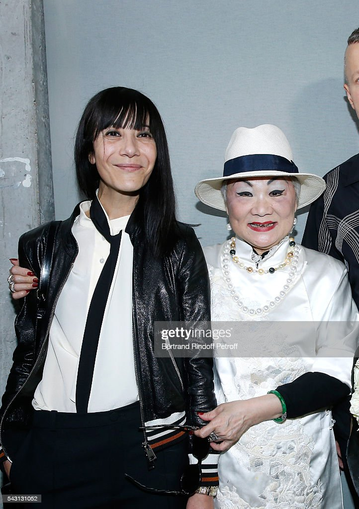 Artistic Director and Stylist of Lanvin Women, Bouchra Jarrar and Owner of Lanvin Shaw Lan Wang attend the Lanvin Menswear Spring/Summer 2017 show as part of Paris Fashion Week on June 26, 2016 in Paris, France.