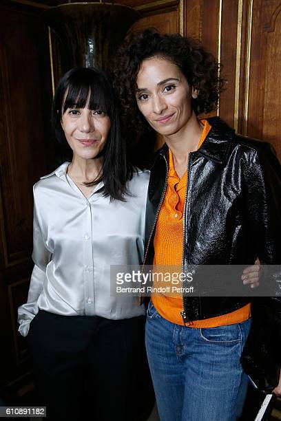 Artistic Director and Stylist of Lanvin Women Bouchra Jarrar and Actress Rachida Brakni pose after the Lanvin show as part of the Paris Fashion Week...