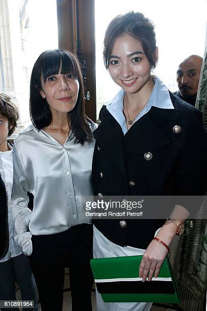 Artistic Director and Stylist of Lanvin Women Bouchra Jarrar and Guest pose after the Lanvin show as part of the Paris Fashion Week Womenswear...