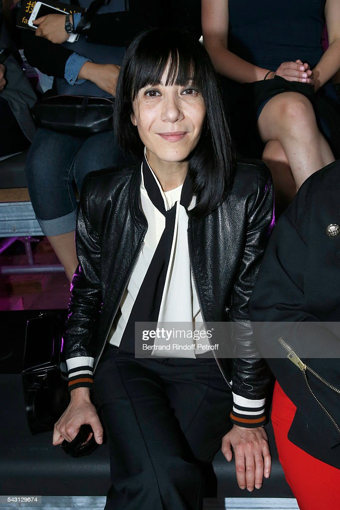 Artistic Director and Stylist of Lanvin Women, Bouchra Jarrar attends the Lanvin Menswear Spring/Summer 2017 show as part of Paris Fashion Week on June 26, 2016 in Paris, France.