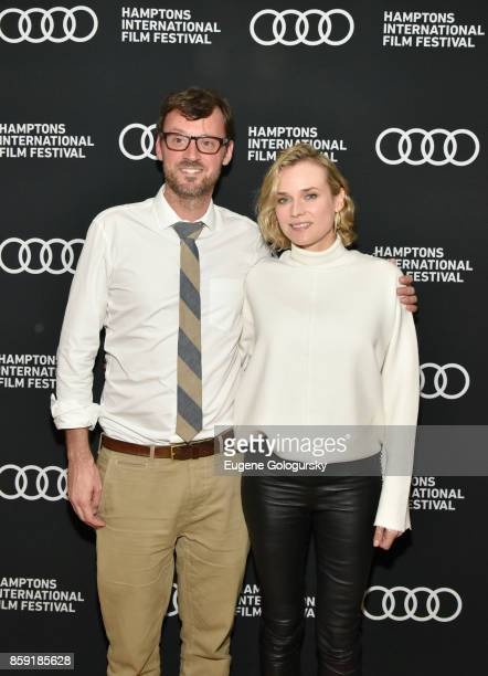 Artistic Director at Hamptons International Film Festival David Nugent and Diane Kruger attend the red carpet for 'In the Fade' during Hamptons...
