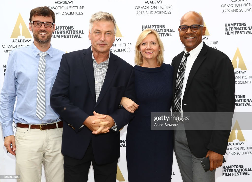 Artistic Director at Hamptons International Film Festival David Nugent, Co- Chair of the Hamptons International Film Festival Alec Baldwin, Executive Director at Hamptons International Film Festival Anne Chaisson and Academy of Motion Picture Arts and Sciences Patrick Harrison attend the red carpet at Hamptons International Film Festival 2017 - Day Three on October 7, 2017 in East Hampton, New York.