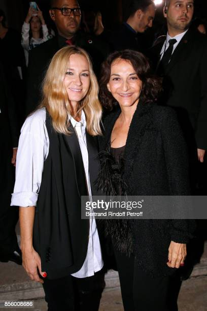 Artistic Director at Sonia Rykiel Julie de Libran and Nathalie Rykiel pose after the Sonia Rykiel show as part of the Paris Fashion Week Womenswear...
