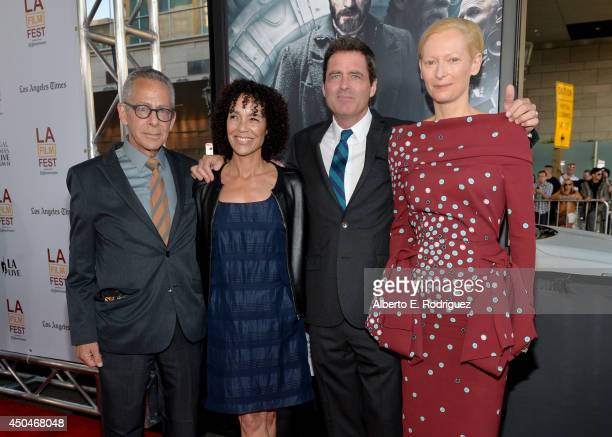 LAFF artistic director David Ansen LAFF director Stephanie Allain Film Independent copresident Josh Welsh and actress Tilda Swinton attend the...