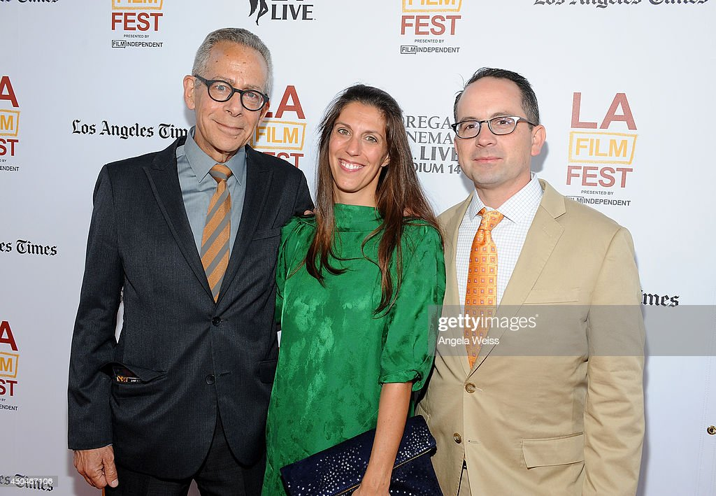 LAFF artistic director David Ansen, Senior Programmer, Film Independent, Maggie Mackay and Associate Director of Programming, Film Independent, Doug Jones attend the opening night premiere of 'Snowpiercer' during the 2014 Los Angeles Film Festival at Regal Cinemas L.A. Live on June 11, 2014 in Los Angeles, California.