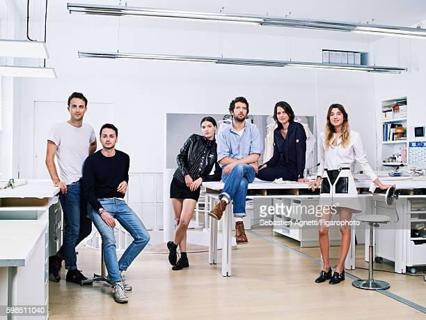Artistic director for Courreges Arnaud Vaillant Sebastien Meyer casting director Ben Grimes art director Ben Kelway DJ Chloe Thevenin and style...