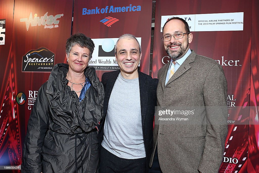 Artistic Director Helen du Toit , Director Pablo Berger and Kevin Spence at The 24th Annual Palm Springs International Film Festival Opening Night Screening And Receptionon January 3, 2013 in Palm Springs, California.