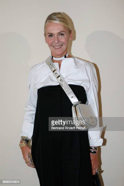 Artistic Director of Delvaux Christina Zeller attends the Sonia Rykiel show as part of the Paris Fashion Week Womenswear Spring/Summer 2018 on...