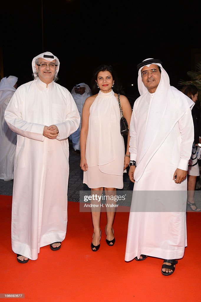 Artistic Director of DIFF Masoud Amralla Al Ali, Managing Director of DIFF Shivani Pandya and DIFF Chairman Abdulhamid Juma attend the opening night ceremony and gala screening of 'The Reluctant Fundamentalist' during the 2012 Doha Tribeca Film Festival at Al Mirqab Hotel on November 17, 2012 in Doha, Qatar.
