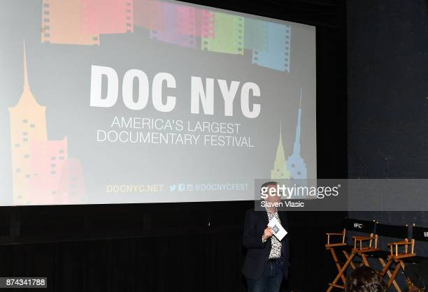 Artistic director of documentary festival DOC NYC Thom Powers speaks on stage at DOC NYC Premiere of the HBO documentary film 'Traffic Stop' at IFC...
