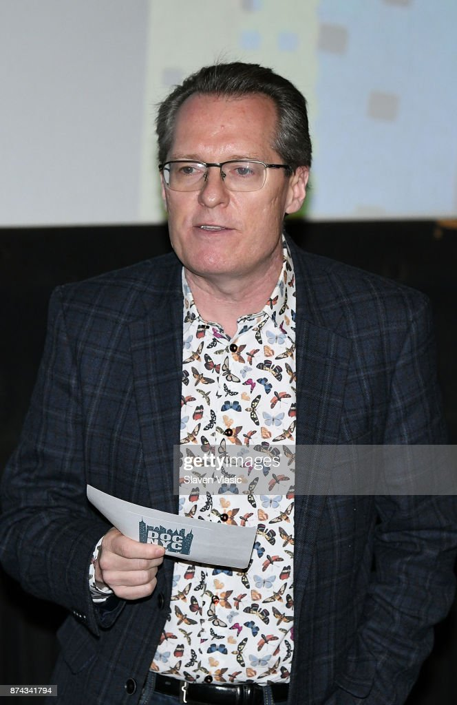 Artistic director of documentary festival DOC NYC Thom Powers speaks on stage at DOC NYC Premiere of the HBO documentary film 'Traffic Stop' at IFC Center on November 14, 2017 in New York City.