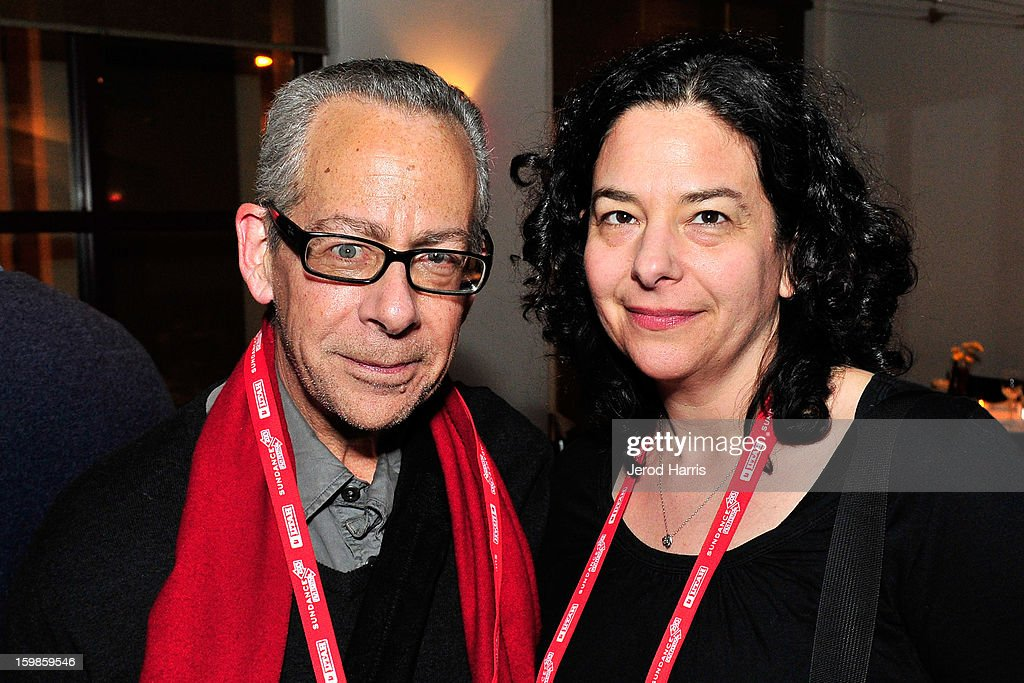 Artistic director of LAFF David Ansen and Rachel Rosen attend the IMDb Sundance dinner party at The Mustang on January 21, 2013 in Park City, Utah.