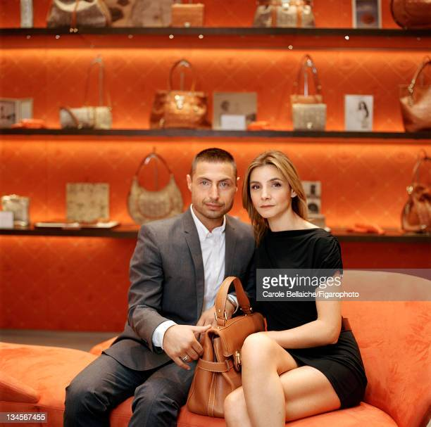 Artistic director of Lancel Leonello Borghi is photographed with his muse Princess Clotilde Courau of Venice and Piedmont for Madame Figaro on...