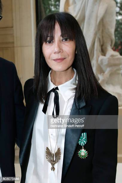 Artistic Director of Lanvin Bouchra Jarrar is Decorated 'Officier de l'Ordre des Arts et des Lettres' at 'Palais Galliera Musee de la Mode de la...