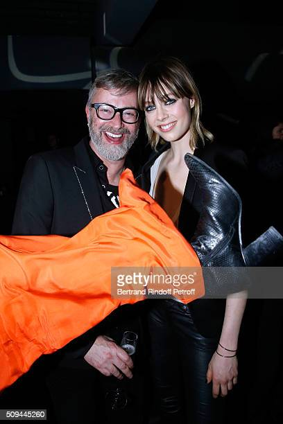 Artistic Director of Makeup Yves Saint Laurent Lloyd Simmonds and Black Opium perfume Muse Model Edie Campbell attend YSL Beauty launches the New...