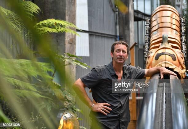 Artistic director of the company 'La Machine' Francois Delaroziere poses on June 20 2017 in the Machine gallery of 'Les Machines de L'Ile' in Nantes...