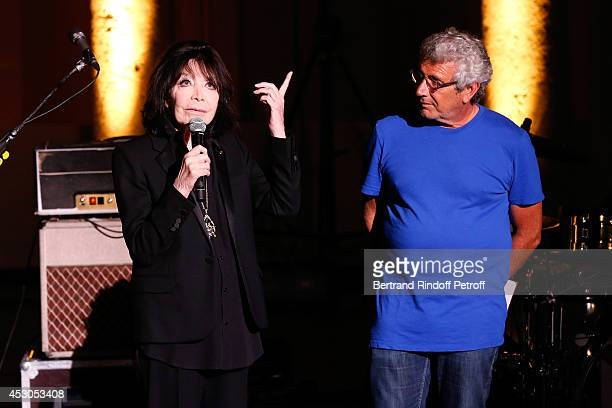 Artistic Director of the Festival Michel Boujenah and Singer Juliette Greco who starts the 30th Ramatuelle Festival on August 1 2014 in Ramatuelle...