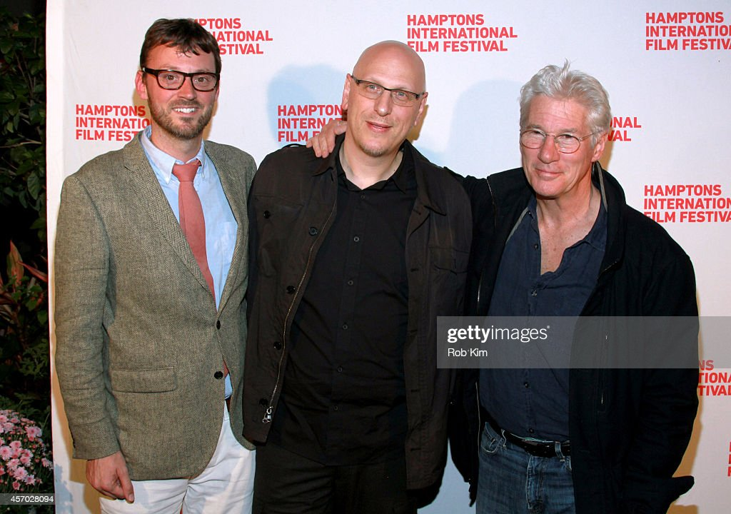 Artistic Director of the Hamptons International Film Festival <a gi-track='captionPersonalityLinkClicked' href=/galleries/search?phrase=David+Nugent+-+Artistic+Director&family=editorial&specificpeople=15104918 ng-click='$event.stopPropagation()'>David Nugent</a>, director <a gi-track='captionPersonalityLinkClicked' href=/galleries/search?phrase=Oren+Moverman&family=editorial&specificpeople=5671130 ng-click='$event.stopPropagation()'>Oren Moverman</a> and <a gi-track='captionPersonalityLinkClicked' href=/galleries/search?phrase=Richard+Gere&family=editorial&specificpeople=202110 ng-click='$event.stopPropagation()'>Richard Gere</a> attend the 'Time Out of Mind' premiere during the 2014 Hamptons International Film Festival on October 10, 2014 in East Hampton, New York.