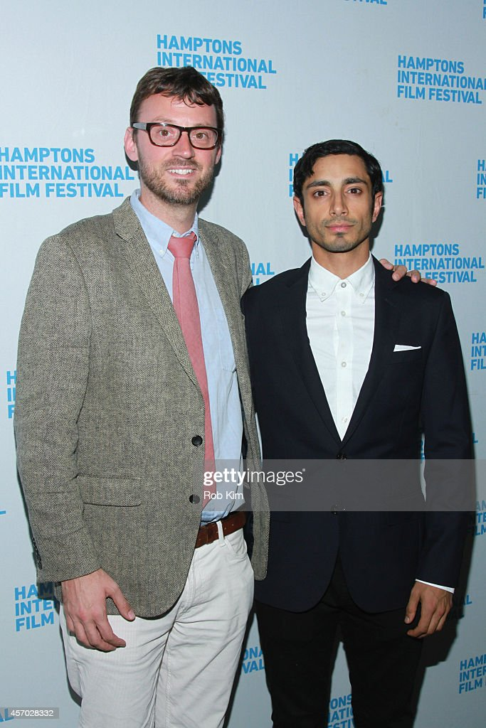 Artistic Director of the Hamptons International Film Festival <a gi-track='captionPersonalityLinkClicked' href=/galleries/search?phrase=David+Nugent+-+Artistic+Director&family=editorial&specificpeople=15104918 ng-click='$event.stopPropagation()'>David Nugent</a> (L) and actor Riz Ahmed attend the 'Nightcrawler' premiere during the 2014 Hamptons International Film Festival on October 10, 2014 in East Hampton, New York.