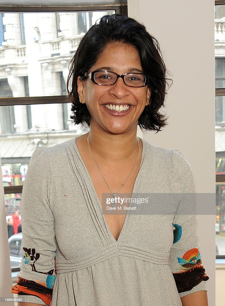 Artistic Director of the Tricycle Theatre Indhu Rubasingham attends the 2013 Critics' Circle Theatre Awards at the Prince Of Wales Theatre on January 15, 2013 in London, England.