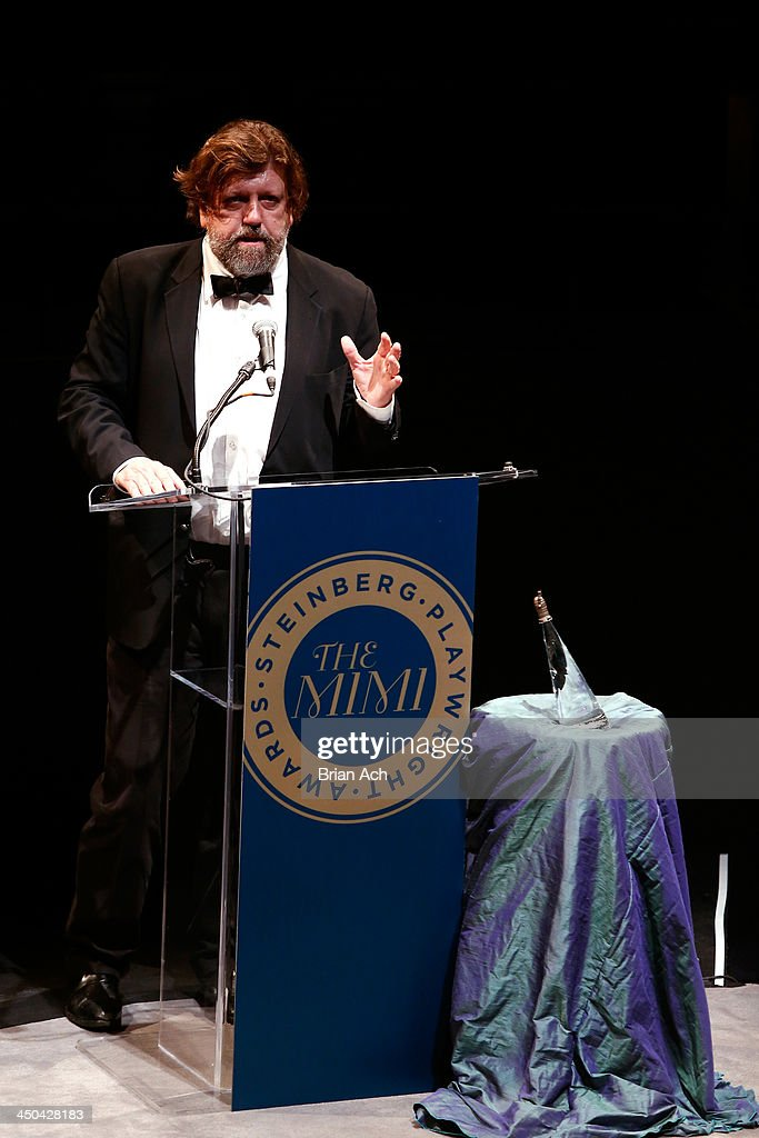 Artistic Director Oskar Eustis speaks onstage at The 2013 Steinberg Playwright 'Mimi' Awards presented by The Harold and Mimi Steinberg Charitable Trust at Lincoln Center Theater on November 18, 2013 in New York City.
