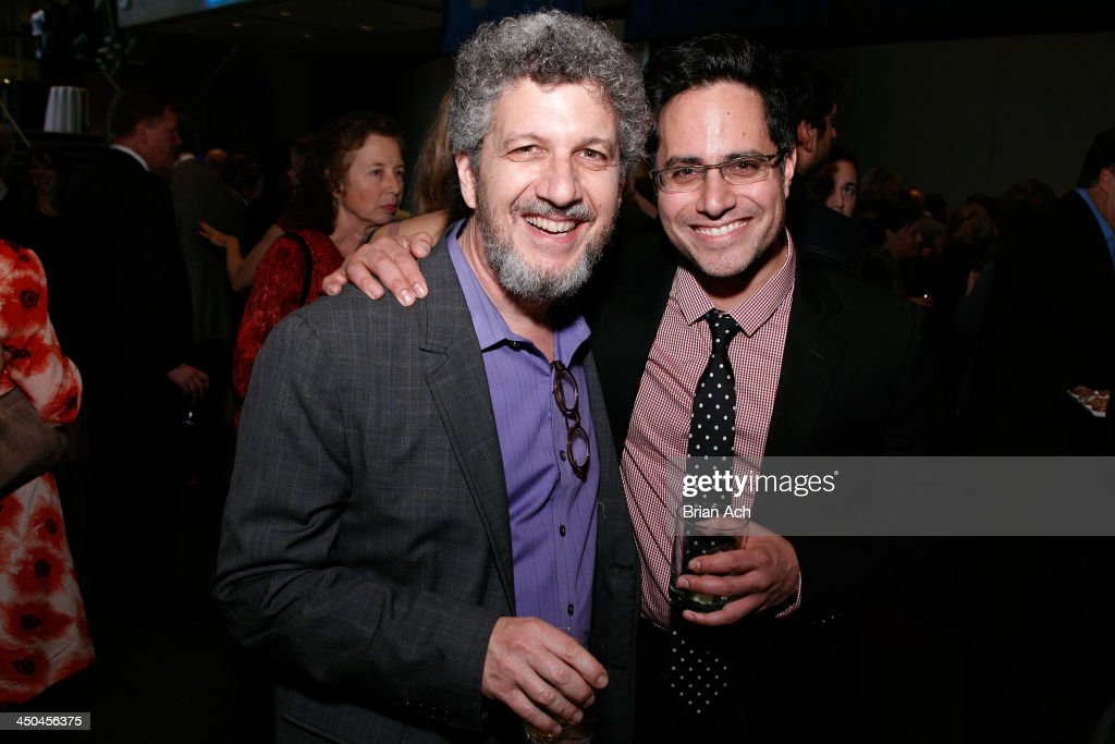 Artistic Director Todd London and actor Rajiv Joseph attend The 2013 Steinberg Playwright 'Mimi' Awards presented by The Harold and Mimi Steinberg Charitable Trust at Lincoln Center Theater on November 18, 2013 in New York City.