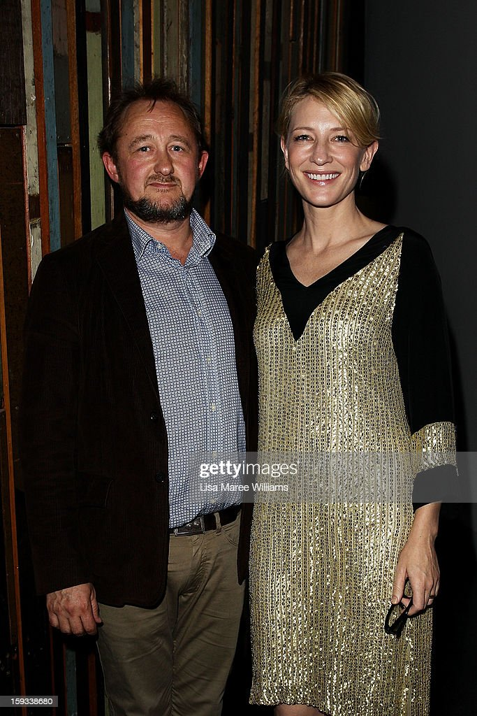 Artistic Directors <a gi-track='captionPersonalityLinkClicked' href=/galleries/search?phrase=Andrew+Upton&family=editorial&specificpeople=213980 ng-click='$event.stopPropagation()'>Andrew Upton</a> and <a gi-track='captionPersonalityLinkClicked' href=/galleries/search?phrase=Cate+Blanchett&family=editorial&specificpeople=201621 ng-click='$event.stopPropagation()'>Cate Blanchett</a>e attend the opening night of 'The Secret River' at the Sydney Theatre Company on January 12, 2013 in Sydney, Australia.
