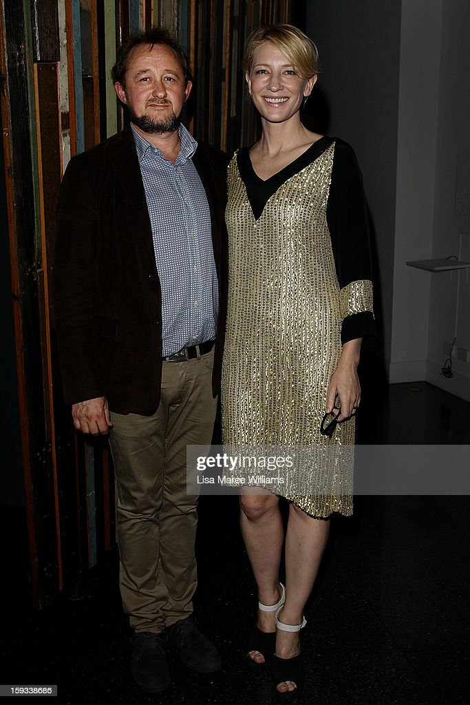 Artistic Directors Andrew Upton and Cate Blanchette attend the opening night of 'The Secret River' at the Sydney Theatre Company on January 12, 2013 in Sydney, Australia.
