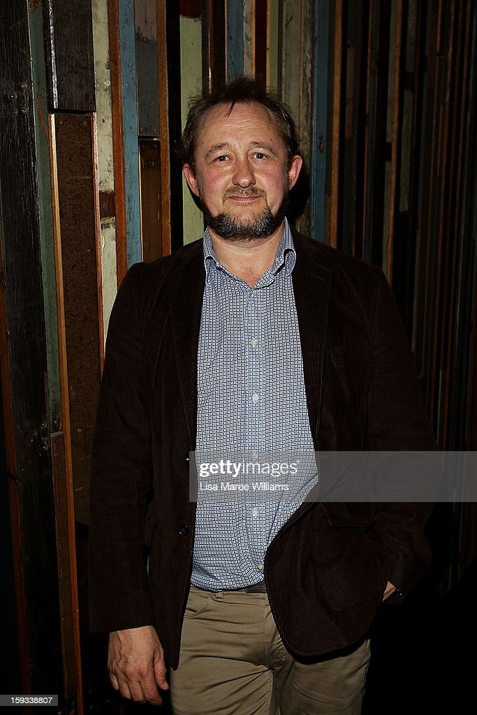 Artistic Directors <a gi-track='captionPersonalityLinkClicked' href=/galleries/search?phrase=Andrew+Upton&family=editorial&specificpeople=213980 ng-click='$event.stopPropagation()'>Andrew Upton</a> attends the opening night of 'The Secret River' at the Sydney Theatre Company on January 12, 2013 in Sydney, Australia.