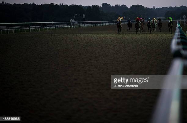 Artistic Flight ridden by Fergus Sweeney wins the Centrepoint Handicap at Lingfield Park on August 13 2015 in Lingfield England