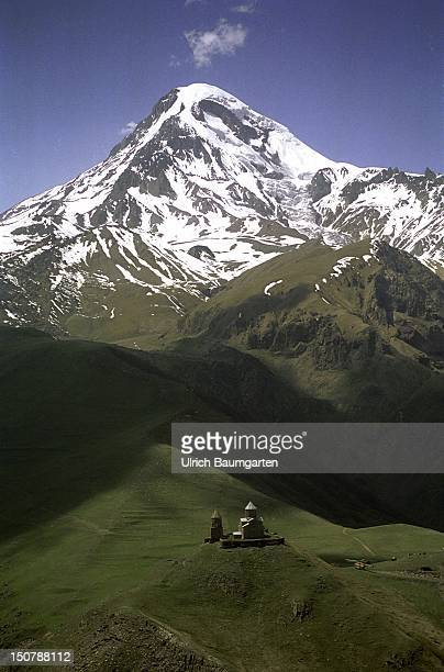 Artistic landscape in an uneasy region Our picture shows the mountain Kazbek with a hight of 5047 m one of the highest mountains of the Caucasus at...