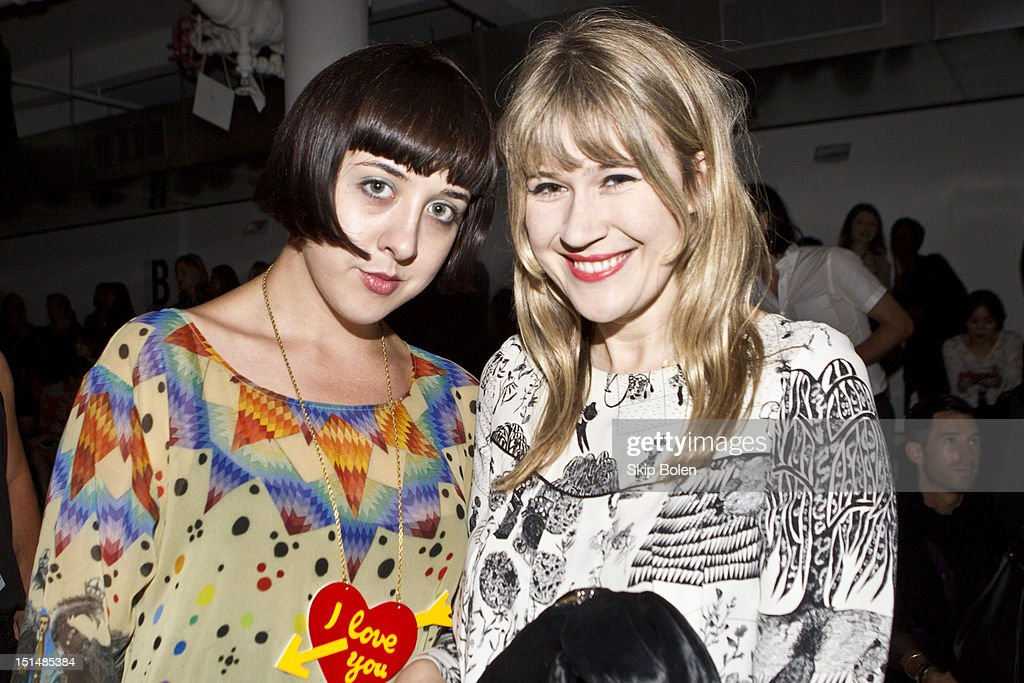 Artist-illustrator Alia Penner and drummer-actress Tennessee Thomas attends the Suno spring 2013 fashion show during Mercedes-Benz Fashion Week at Milk Studios on September 7, 2012 in New York City.
