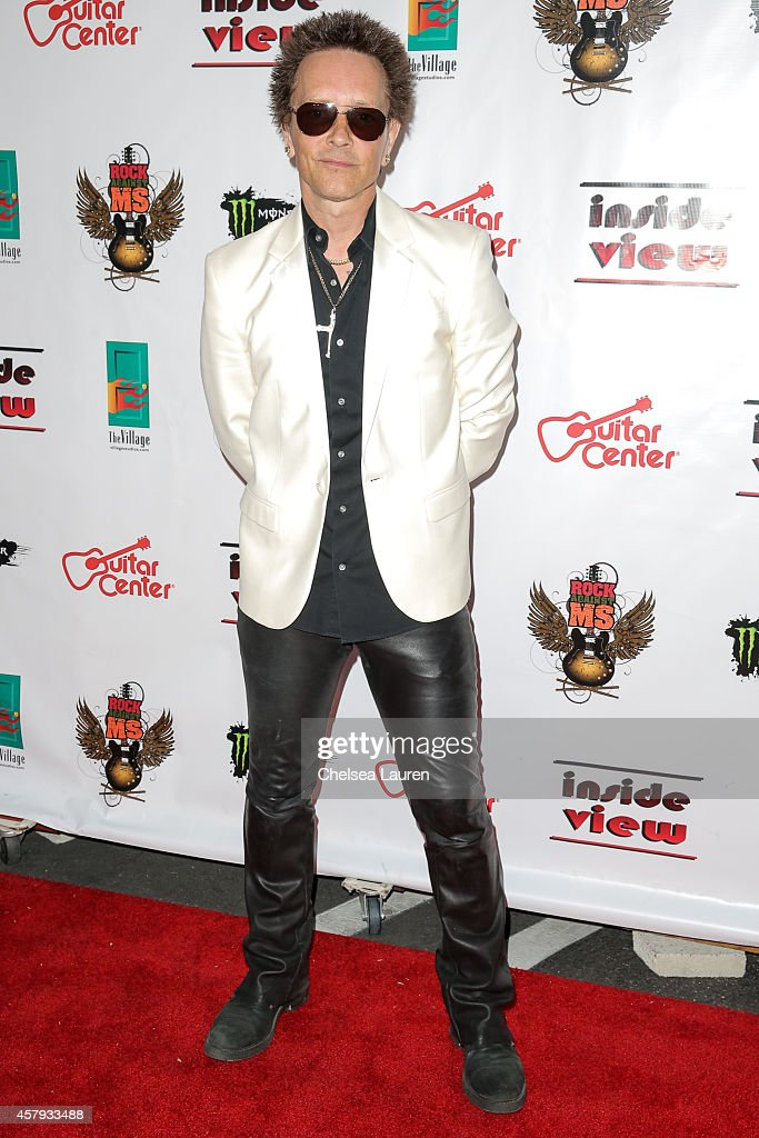 Artist/musician Billy Morrison arrives at an evening of art with Billy Morrison and Joey Feldman benefiting the Rock Against MS Foundation at Village Studios on October 26, 2014 in Los Angeles, California.