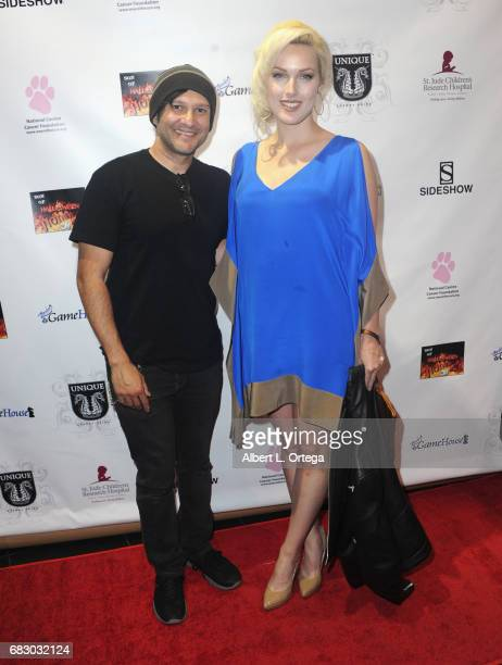 Artist/musician Neil D'Monte and actress/model Hollin Haley at Son Of Hollywood Hotness held at Ripley's Believe It or Not on May 13 2017 in...