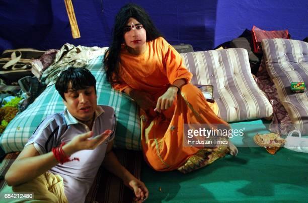 Artists at the backstage of Ramlila on Azad Maidan