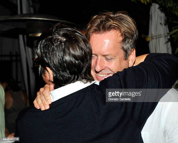 Artists Catherine Opie and Doug Aitken attend the Doug Aitken Still Life Opening Reception and Dinner at Chateau Marmont on September 6 2014 in Los...