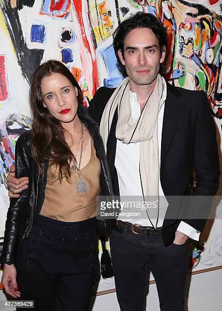 Artists Dana Louise Kirkpatrick and Alexander Yulish attend the Alexander Yulish 'An Unquiet Mind' VIP opening reception at KM Fine Arts LA Studio on...