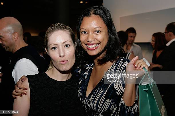 Artists Darcie Voukovich and Amelia Abdullahsani attend La Mer Celebrates 'Liquid Light' By Fabien Baron at The Glass Houses on September 10 2008 in...