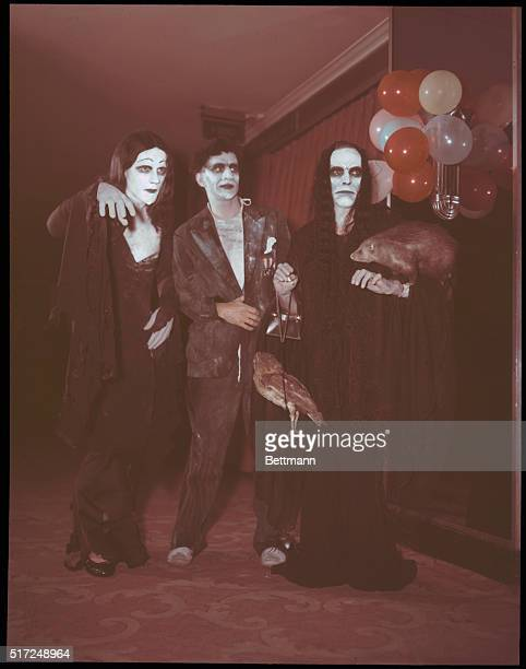 Artists Equity 'Bal Fantastique' 5/13/55 Dressed up as Charles Adams' characters are LR Bill Glazier Carl Patton Dick Hicks