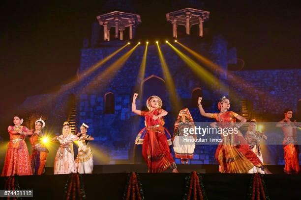 Artists from across the world perform during the 11th Delhi International Arts festival at Purana Qila on November 11 2017 in New Delhi India DIAF...