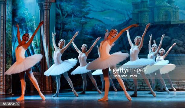Artists from Royal Russian Ballet perform Swan Lake one of the most popular forms of ballet performances at Siri Fort Auditorium on September 22 2017...