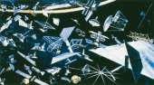 Artist's impression depicting a wide variety of existing and future satellites satellites for surveying Earth resources and mapping them...