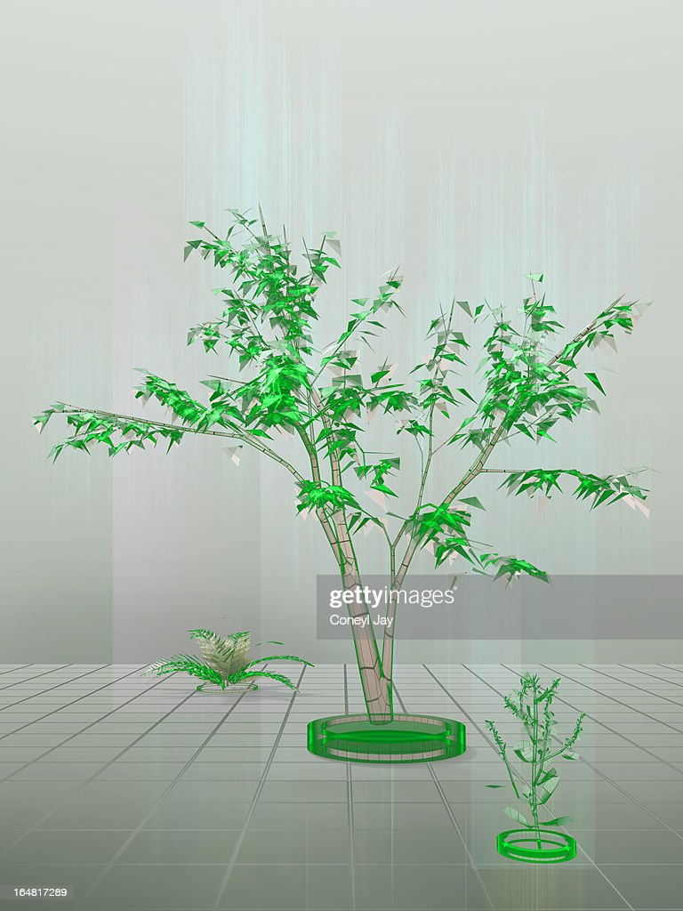 Artists interpretation of augmented reality : Stock Photo