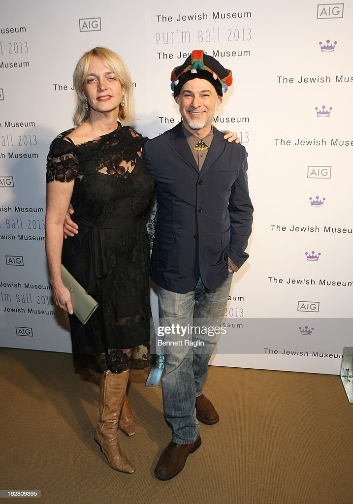Artists Jacqueline Miro and Izhar Patkin attend the 2013 Jewish Museum Purim Ball at Park Avenue Armory on February 27, 2013 in New York City.