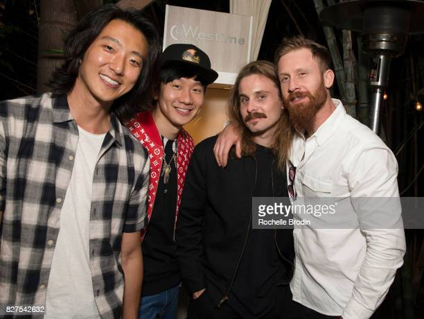 Artists JJ Lin Harry Chang Shelby and Sandy Murphy attend the Haute Living Celebrates Kate Mara With Westime cover party on August 7 2017 in Los...