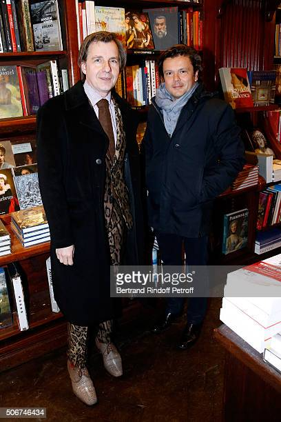 Artists Johan Creten and JeanMichel Othoniel attend Princess Gloria Von Thurn und Taxis signs her Book 'The House of Thurn und Taxis' Held at...
